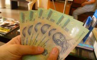 Как перевести вьетнамские донги в рубли