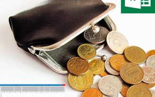 Как рассчитать свой бюджет на месяц таблица
